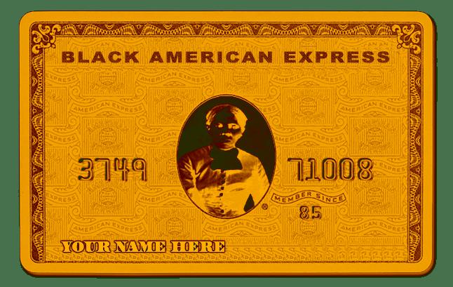 BLACK-AMERICAN-EXPRESS-CARD-MELANIN-VALLEY GOLD